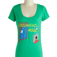 Out of Print Scholastic Mid-length Short Sleeves Novel Tee in Goodnight Moon