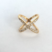 Crossed In Crystals Ring
