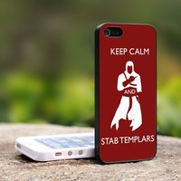 Assassin's Creed Keep Calm - For iPhone 5 Black Case Cover