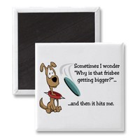 Funny Frisbee magnet from Zazzle.com