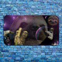 Cute Sloth Outer Space Galaxy Funny Animal Case Cover iPhone 4 4s 5 5s 5c 6 New
