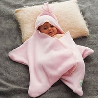 star fleece baby wrap by tuppence and crumble | notonthehighstreet.com