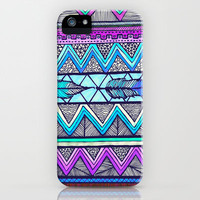 Two Feathers (color version 3) iPhone & iPod Case by Lisa Argyropoulos
