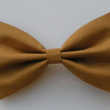 Mustard color fabric Hair Bow for kids adults, Hair Clips, Hair Barrettes, Fabric Hair Bows, Hair Bows