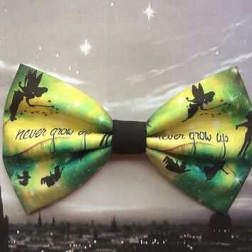 Peter Pan Never Grow Up Inspired Hair Bow or Bow Tie