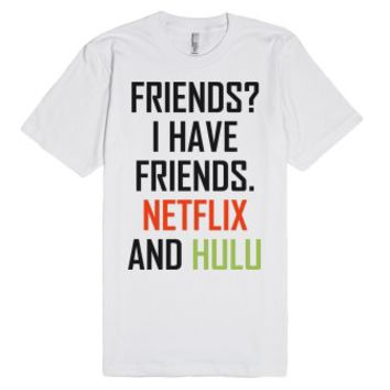 Friends?-Unisex White T-Shirt