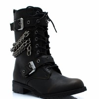 Chain Game Combat Boots