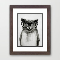 Mr. Owl Framed Art Print by Isaiah K. Stephens