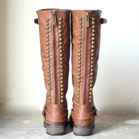 paige tall studded riding boots
