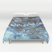 forest of blues Duvet Cover by Marianna Tankelevich