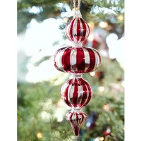 Peppermint Finial Ornament