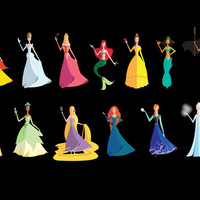 Origami - The Princesses Art Print by Paulway Chew