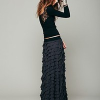 Free People Womens FP X Lydia Maxi Skirt - Washed Black,