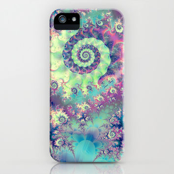 Violet Teal Sea Shells, Abstract Underwater Forest iPhone & iPod Case by Diane Clancy's Art | Society6