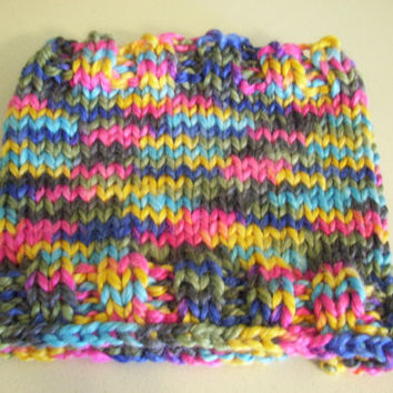 Cowl Hand Knit Chunky Variegated Colors by PreciousBowtique