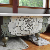 Artisan designed restored vintage cast iron claw foot tub