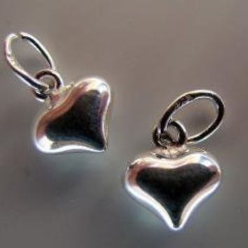puffed sterling hearts six hearts by lisasummers642008 on Etsy