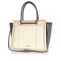 River Island Womens Cream color block winged tote bag