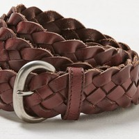 AEO Women's Braided Belt (Brown)