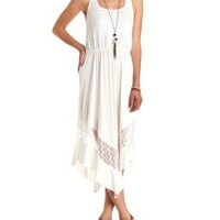 Racerback Lace Midi Dress by Charlotte Russe - Ivory