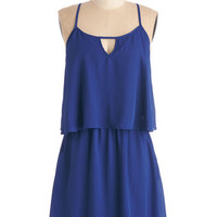 ModCloth Mid-length Spaghetti Straps A-line Let's Get Movin' Dress