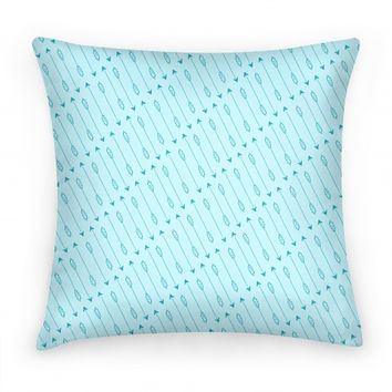 Blue Diagonal Arrow Pattern