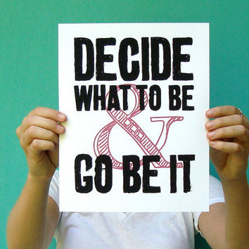 graduation gift decide what to be and go be it by letterhappy