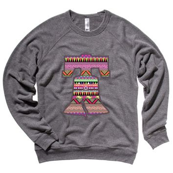 Aztec Liberty Bell Mens Raglan Sweater