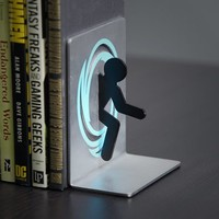 Portal 2 Bookends for Shelf and Books - Officially Licensed Portal Collectible