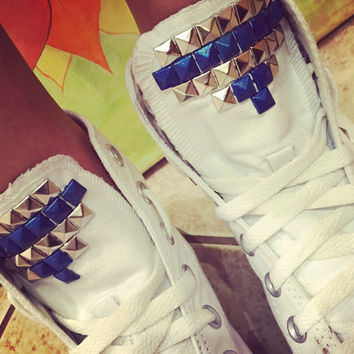 Custom Studded White Converse All Star High Tops - Chuck Taylors ALL SIZES & COLORS!!!