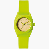 Nixon Small Time Teller P Watch Neon Yellow/Beetlepoint One Size For Women 25992095701