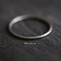 Size 7, Oxidized Sterling Silver Crinkle Ring, Handmade Jewelry, Stacking Ring, Simple Rings, Thin Ring, Minimalist, Ready To Ship!