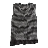 J.Crew Womens Ruffle Hem Tank Top In Stripe
