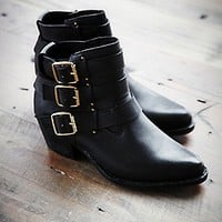 Jeffrey Campbell Womens Buckle Back Ankle Boot -