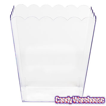 Clear Plastic Popcorn Style Candy Container - Small | CandyWarehouse.com Online Candy Store