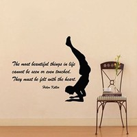 Wall Decor Vinyl Decal Sticker Quote Sport Boy the Most Beautiful Things in Life Pilates Gym Bedroom Living Room Home Interior Design Kg825