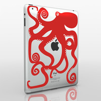 octopus iPad 2 decal by beepart on Etsy