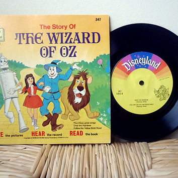 1978 The Wizard of Oz Read Along Vintage Childrens by VintageWoods