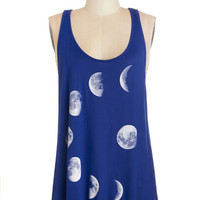 ModCloth Cosmic Mid-length Tank top (2 thick straps) Never Phased Tank Top