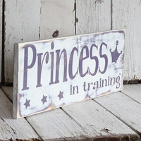 Purple Princess in Training Hand painted and by MannMadeDesigns4 on Etsy