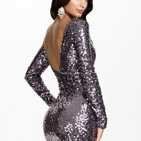 Scoop Back Sequin Dress, Oneness