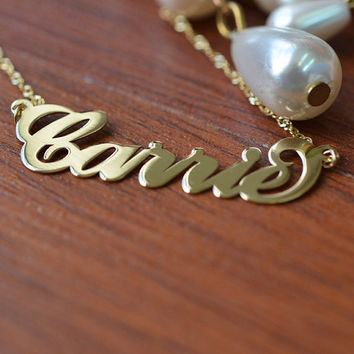14K Gold Carrie Name Necklace