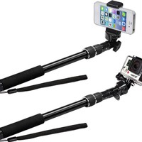 Extendable SELFIE STICK Monopod for GoPro, iPhones, Android Phones, and Cameras! The VERSATILE and RUGGED ThrillPro from The Alaska Life®