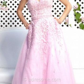 Beaded with Pockets Prom Gown by Tony Bowls Paris