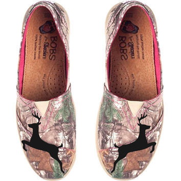 Hand-Painted Camo realtree Bob Shoes- Inspired by Browning