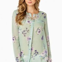 IN BLOOM BLOUSE IN MINT