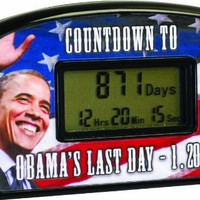 Big Mouth Toys Countdown Clock & Timer - Obama's Last Day 1-20-17