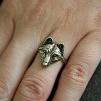 My Little Wolf Face Ring by mrd74 on Etsy