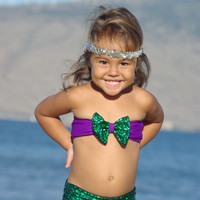 ARIEL: Baby Bikini SET Create Your Own One Little Mermaid Child's Swimsuit