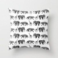 graphic zoo Throw Pillow by Sharon Turner   Society6